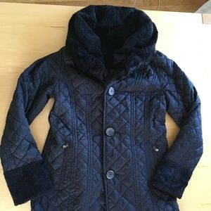 Laundry By Shelli Segal Jackets & Coats - Faux Fur Black Reversible Quilted Coat